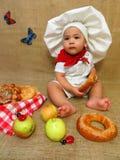 De kok van de babyjongen Royalty-vrije Stock Fotografie