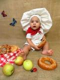 De kok van de babyjongen Stock Fotografie