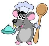 De kok van de muis met lepel Stock Afbeeldingen