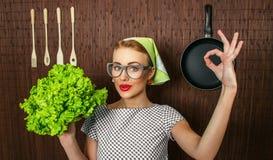De kok van de vrouw Royalty-vrije Stock Foto's
