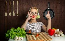 De kok van de vrouw Stock Foto