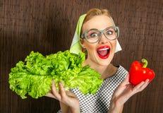 De kok van de vrouw Stock Afbeeldingen