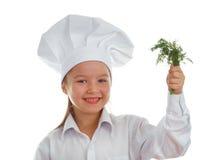 De kok van het babymeisje Stock Fotografie