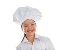 De kok van het babymeisje Stock Afbeeldingen
