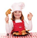 De kok van het meisje stock fotografie