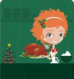 De kok van Kerstmis Stock Fotografie