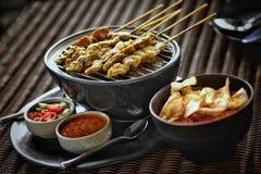 De kok van voedselfoodthai eet diner stock foto