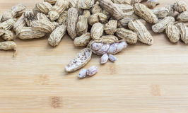 De kokta jordnötterna royaltyfri foto