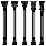De kolom antieke oude oude roman Griekse boog van de pijler Royalty-vrije Stock Foto