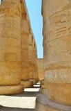 De kolom Karnakgrammatica Egypte Royalty-vrije Stock Afbeeldingen