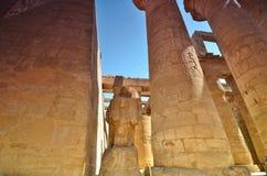 De kolom Karnakgrammatica Egypte Royalty-vrije Stock Foto
