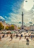De Kolom Londen van Nelson ` s Royalty-vrije Stock Afbeelding