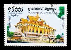 De 100-kolom Pagode, Kratie, Khmer Cultuur serie, circa 1999 Royalty-vrije Stock Foto
