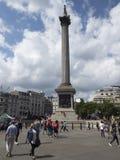 De kolom van admiraalsNelson ` s, Londen Stock Afbeeldingen