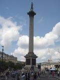 De kolom van admiraalsNelson ` s, Londen Royalty-vrije Stock Foto