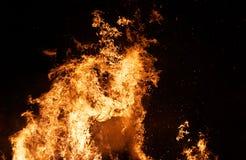 De Kolom van de brand stock afbeeldingen