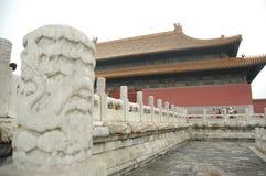 De Kolom van de draak, Verboden Stad, China Royalty-vrije Stock Foto's