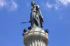 De kolom van de Godin in Lille Royalty-vrije Stock Foto