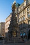 De kolom van de plaque in Wenen Royalty-vrije Stock Foto