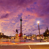 De kolom van de zonsondergangnelson van Londen Trafalgar Square Royalty-vrije Stock Fotografie