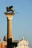 De kolom van het Teken van heilige, Venetië stock foto