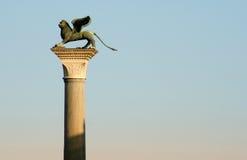 De kolom van het Teken van heilige, Venetië royalty-vrije stock afbeeldingen