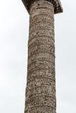 De Kolom van Marcus Aurelius in Piazza Colonna rome Royalty-vrije Stock Fotografie