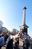 De Kolom van Nelson, Londen Stock Afbeeldingen