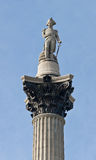De Kolom van Nelson op Vierkant Trafalgar Stock Afbeeldingen