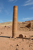 De Kolom van Pharaoh, Petra Stock Fotografie