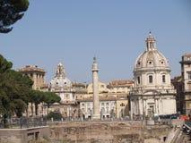 De kolom van Rome Trajan Stock Foto's