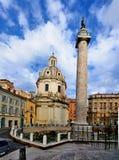 De Kolom van Trajan, Rome Royalty-vrije Stock Afbeeldingen