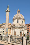 De Kolom van Trajan, Rome Stock Afbeeldingen