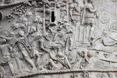De kolom van Trajan in Rome stock fotografie