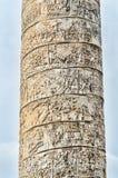 De Kolom van Trajan in Rome, Italië Stock Foto