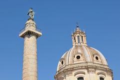 De Kolom van Trajan in Rome, Italië Royalty-vrije Stock Afbeeldingen