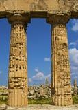 De kolommen en de ruïnes Stock Foto
