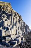 De kolommen IJsland van de basaltrots stock afbeeldingen