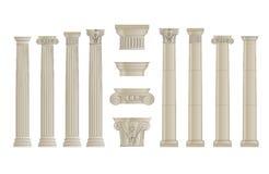 De kolommen plaatsen 1 Stock Afbeeldingen
