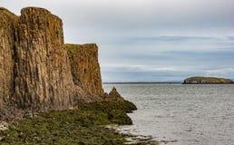 De kolommen van de basaltlava Stock Afbeeldingen