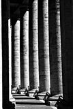 De kolommen van Bernini in Vatikaan Stock Foto