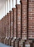 De kolommen van de baksteen royalty-vrije stock afbeeldingen