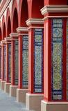 De Kolommen van de boog met Kleurrijke tegels - Lima Stock Foto's