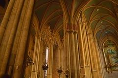 De kolommen van de kathedraal van Zagreb Royalty-vrije Stock Afbeelding