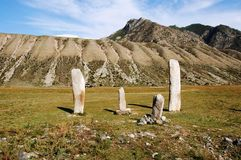 De kolommen van de steen op Altai Stock Fotografie