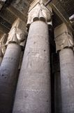De Kolommen van de steen in Oude Egyptische Tempel Stock Foto's