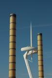 De kolommen van de verlichting en toren Calatrava Royalty-vrije Stock Afbeeldingen