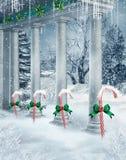 De kolommen van de winter vector illustratie