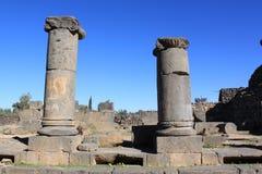 De kolommen van het basalt stock fotografie