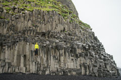 De kolommen van het Basalt van Reynisfjara Stock Foto